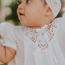 Vestido renda renascença branco Maria 06 meses