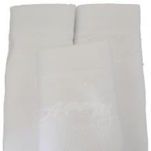 Fralda bordada poá branco - Unidade