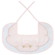 Babador bordado floral rosa