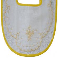 Babador bordado ramalhete amarelo