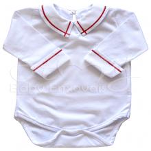 Body bebê bordado vermelho - P