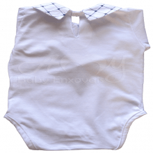 Body bebê poá marinho - P