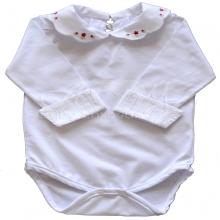 Body bebê rosinha vermelha - P
