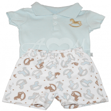 Conjunto body polo manga curta baby blue - P