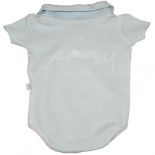 Conjunto body polo manga curta baby blue - RN
