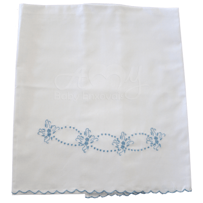 Cueiro lençol de xixi mini margarida azul