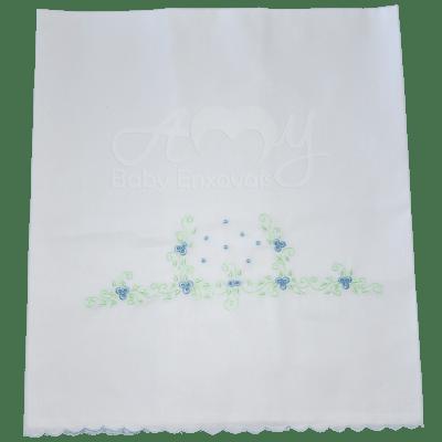 Cueiro lençol de xixi pinguinho azul