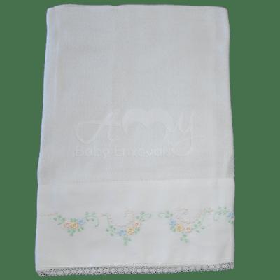 Kit presente bordado primavera - 3 peças