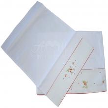 Jogo lençol carrinho bordado doce moranguinho - 2 peças