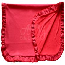 Manta bebê malha tricotada vermelha