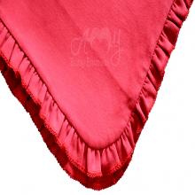Manta bebê malha tricota vermelha