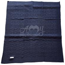 Manta tricô marinho losango