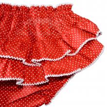 Calcinha infantil babadinho poá vermelho - P ; M ; G