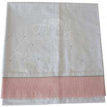 Cueiro lençol de xixi poá rosa e cinza