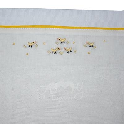 Fralda bordada pintinho amarelinho - 3 Unidades