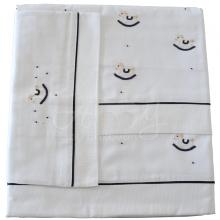 Jogo de berço bordado cavalinho de balanço - 3 peças