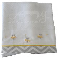 Pano de chupeta chevron floral
