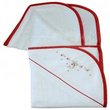 Toalha de banho com capuz bordado doce moranguinho