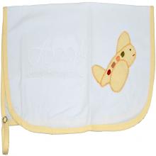Pano para chupeta bordado aviãozinho  amarelo patch