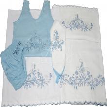 Presente para recem nascido menino rechilieu azul - 6 peças