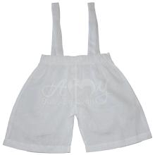 Conjunto em linho branco camiseta e bermuda em renda renascença - 04 meses ; 09 meses ; 1 ano e 2 anos