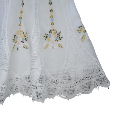 Vestido renda renascença bordado flora pétala - 1 ano
