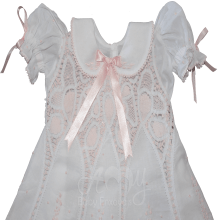 Vestido renda renascença rosa infantil petala  - 1 ano