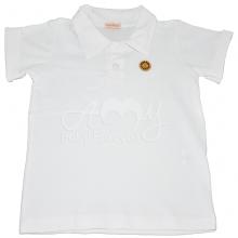 Camiseta polo manga curta branca - 3 anos