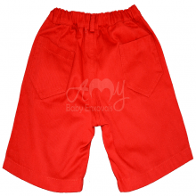 Conjunto infantil camiseta polo e bermuda vermelho 1 ano