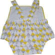 Banho de sol menino - amarelo geométrico