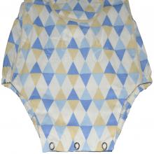 Banho de sol menino - azul geométrico