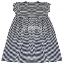 Vestido em malha listra marinho - 1 ano