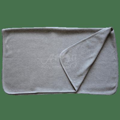 Manta básica em malha tricota cinza