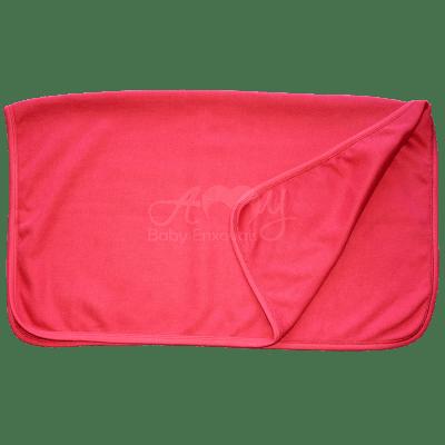Manta básica em malha tricota vermelha