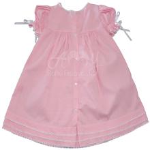 Vestido renda renascença infantil poá rosa - 1 ano