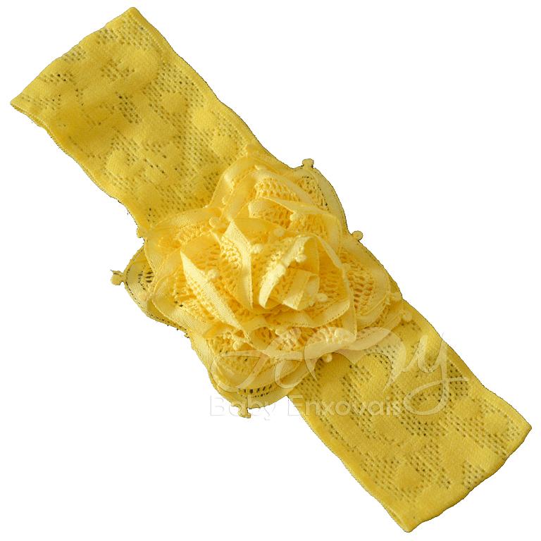 Faixa renda renascença amarela